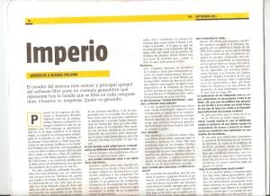 Entrevista publicada en el periódico MU Septiembre 2011